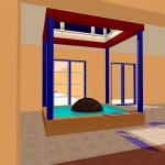 Foyer mit Atrium und Brunnen