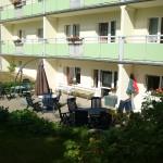 Terrasse der Tagespflege im Souterrain