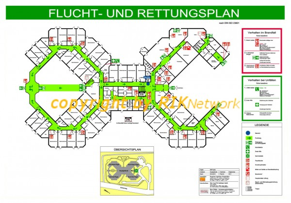 Flucht-und Rettungsplan Senioren-Wohnpark Kyritz