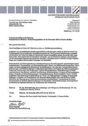 Brandschutzseminar 18-11-2014 Kopie